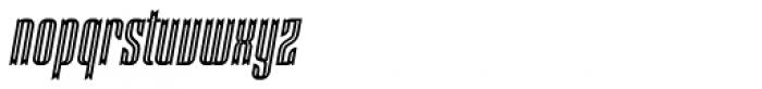 Victorina Condensed Inline Italic Font LOWERCASE