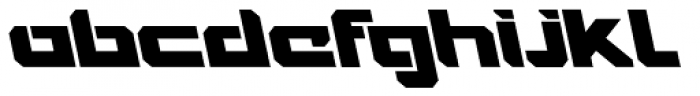 VideoTech Closed A Italic Font LOWERCASE
