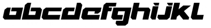 VideoTech Closed Italic Font LOWERCASE