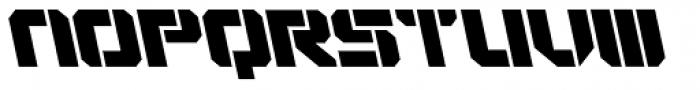 VideoTech Open A Italic Font UPPERCASE
