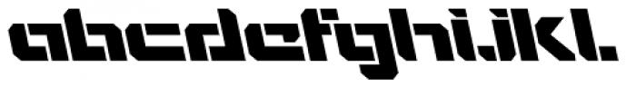 VideoTech Open A Italic Font LOWERCASE
