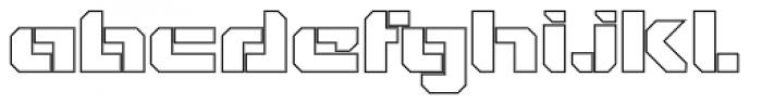 VideoTech Open Outline Font LOWERCASE