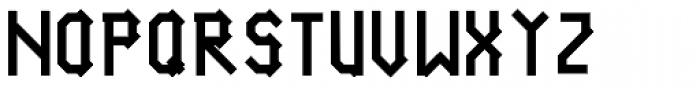 Vier Module Linie Black Font UPPERCASE