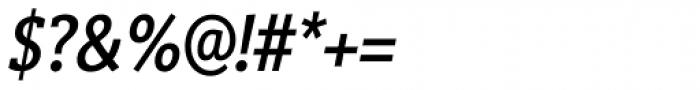 Vigor DT Condensed Medium Italic 375 Font OTHER CHARS