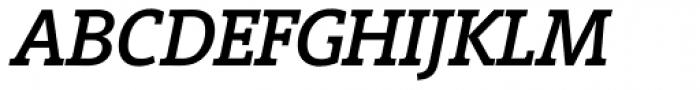 Vigor DT Medium Italic 375 Font UPPERCASE
