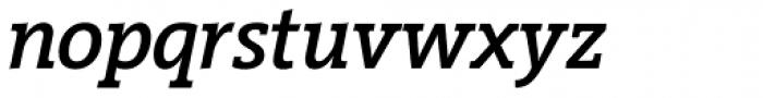 Vigor DT Medium Italic 375 Font LOWERCASE