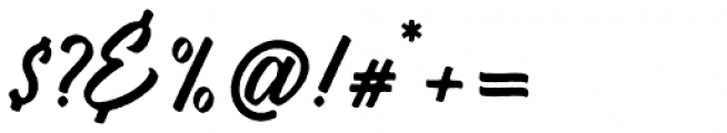 Vigrand Regular Rough Font OTHER CHARS