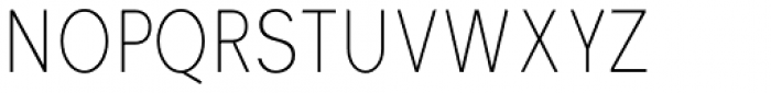 Vikive Condensed Thin Font UPPERCASE