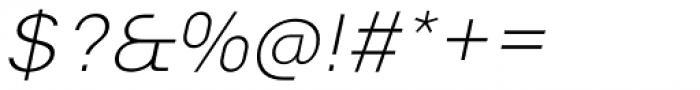 Vikive Extra Light Italic Font OTHER CHARS