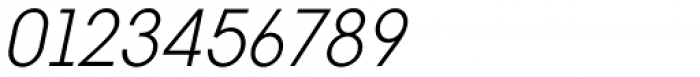 Vikive Semicondensed Light Italic Font OTHER CHARS
