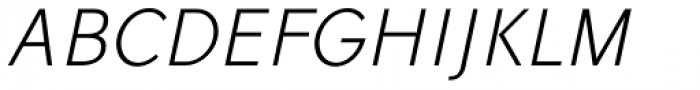 Vikive Semicondensed Light Italic Font UPPERCASE