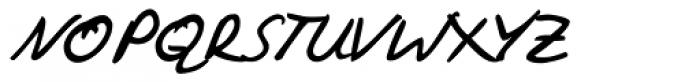 Vincent Handwriting Font UPPERCASE