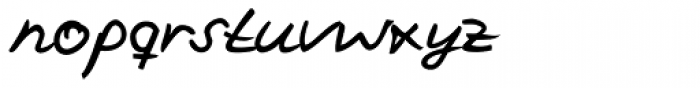 Vincent Handwriting Font LOWERCASE