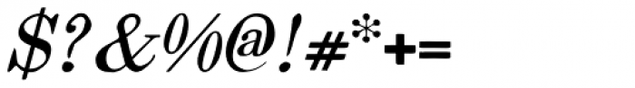 Vine Street Italic 100 Font OTHER CHARS