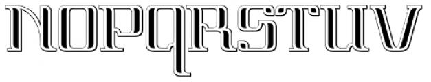 Vinea Embossed Perpendicular Font UPPERCASE