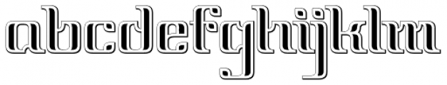 Vinea Embossed Perpendicular Font LOWERCASE