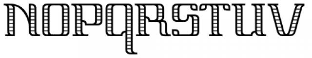 Vinea Light Perpendicular Font UPPERCASE
