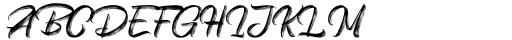 Vinegart Handwritten Font UPPERCASE