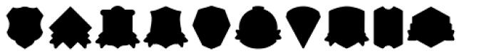 Vintage Badges Font UPPERCASE