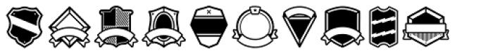 Vintage Badges Font LOWERCASE