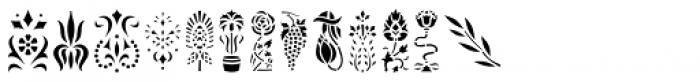 Vintage Stencil Art JNL Font LOWERCASE