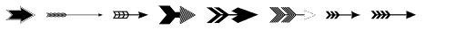 Vintage Wedding Arrows Font LOWERCASE