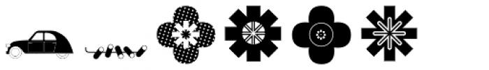 Vintage Wedding Symbols Font UPPERCASE