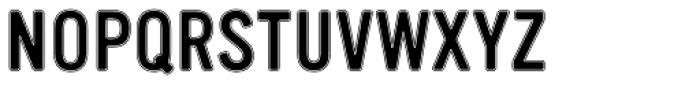 Vinyl Inline Font UPPERCASE