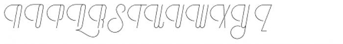 Vinyle Slim Font UPPERCASE