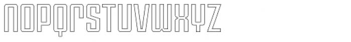 Violenta Outline Unicase Font LOWERCASE