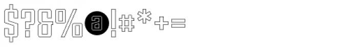 Violenta Slab Outline Unicase Font OTHER CHARS