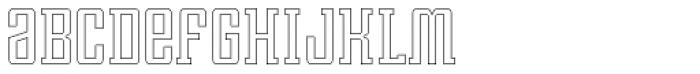 Violenta Slab Outline Unicase Font LOWERCASE