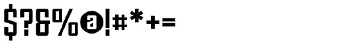 Violenta Slab Solid Unicase Font OTHER CHARS