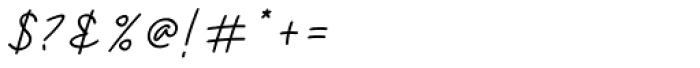 Violia Italic Font OTHER CHARS