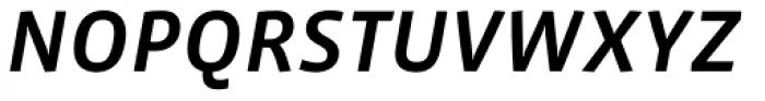 Vista Sans Medium Italic Font UPPERCASE