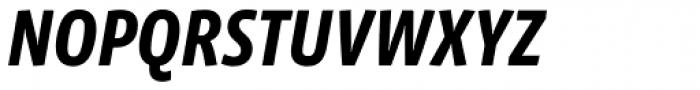 Vista Sans Narrow Bold Italic Font UPPERCASE