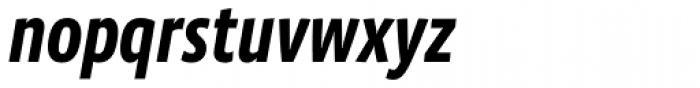 Vista Sans Narrow Bold Italic Font LOWERCASE