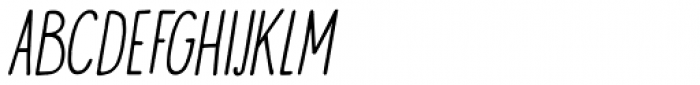 Visum Italic Font UPPERCASE