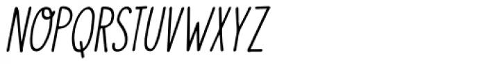 Visum Italic Font LOWERCASE