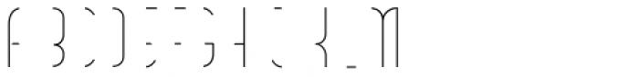 Vitacura Line Font UPPERCASE