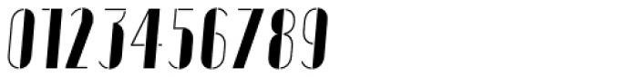 Vitacura Stencil Oblique Font OTHER CHARS