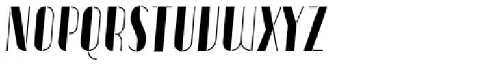 Vitacura Stencil Oblique Font LOWERCASE