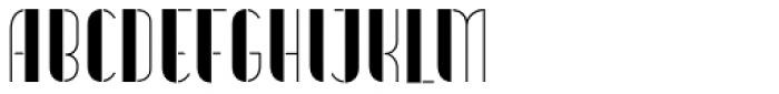 Vitacura Stencil Font LOWERCASE