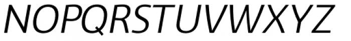 Vitali Neue Medium italic Font UPPERCASE