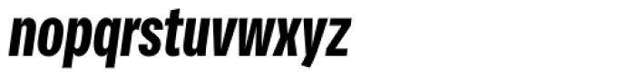 Vito Compressed Black Italic Font LOWERCASE