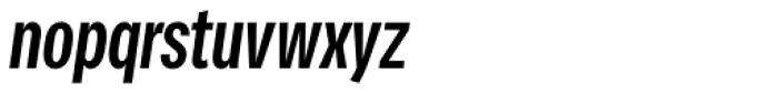 Vito Compressed Bold Italic Font LOWERCASE