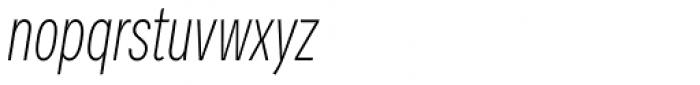 Vito Compressed Extra Light Italic Font LOWERCASE