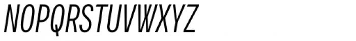 Vito Compressed Italic Font UPPERCASE