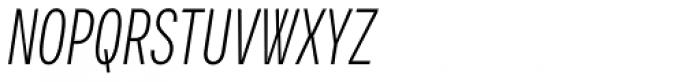 Vito Compressed Light Italic Font UPPERCASE