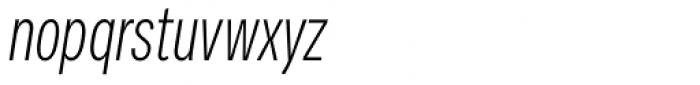 Vito Compressed Light Italic Font LOWERCASE